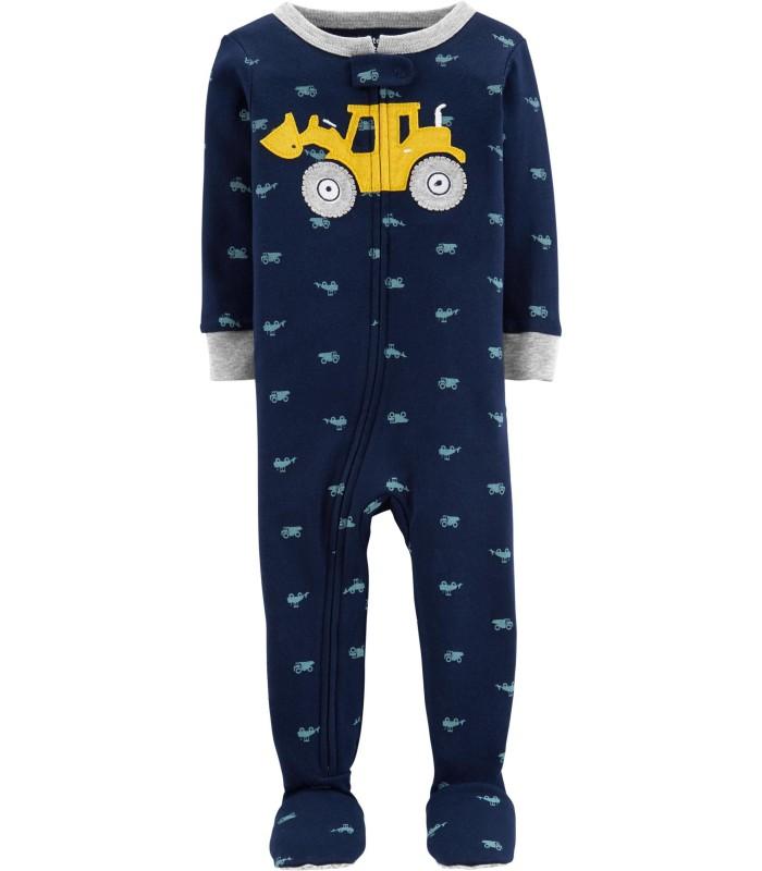 Чоловічок синій з трактором