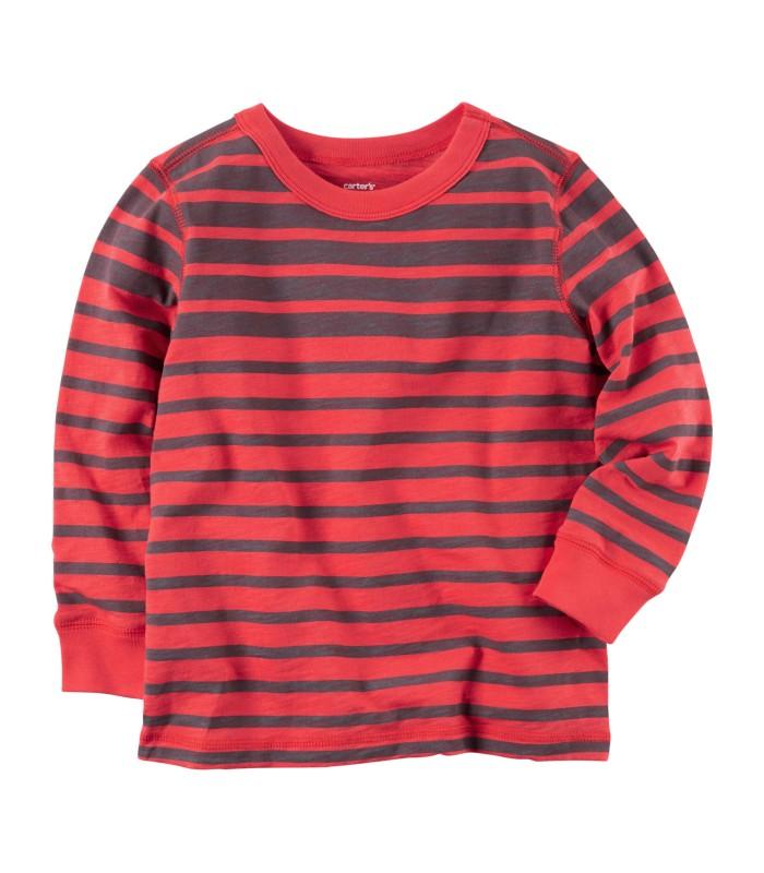 Джемпер червоний в смужку