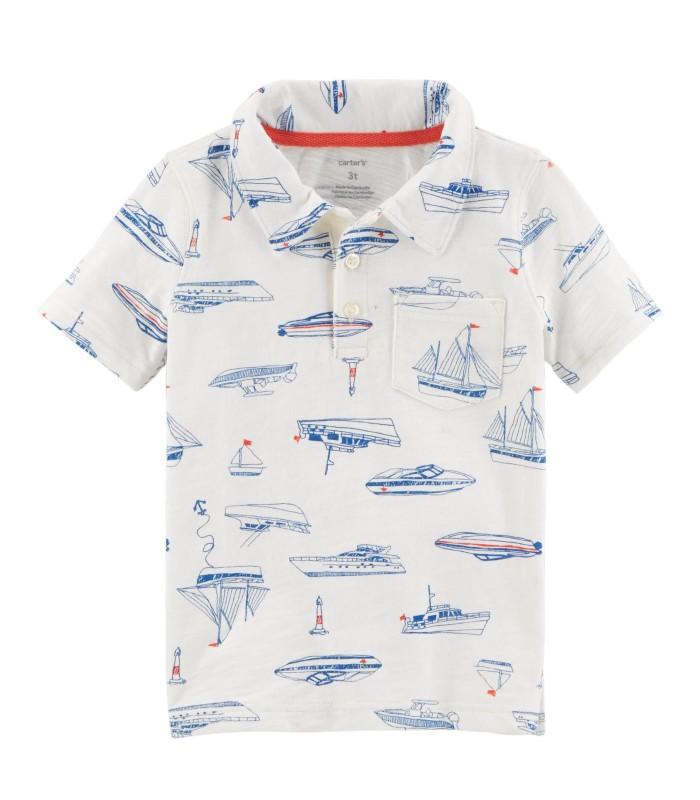 Футболка-поло з кораблями