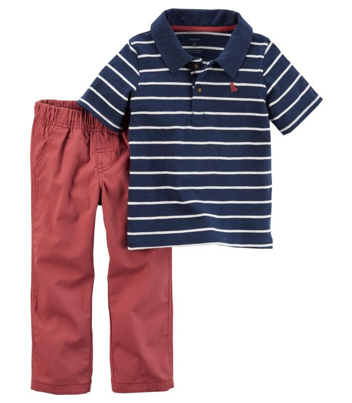 Комплект 2 в 1 поло і червоні штани