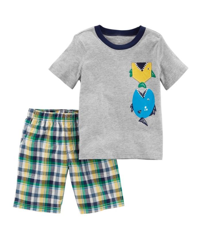 Комплект 2 в 1 шорти і футболка з рибками
