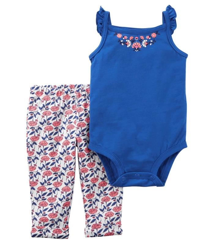 Комплект 2 в 1 штани і боді-маєчка синя