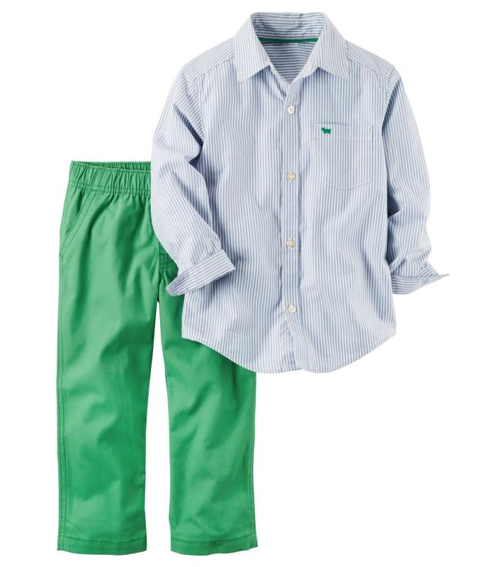 Комплект 2 в 1 штани зелені і сорочка