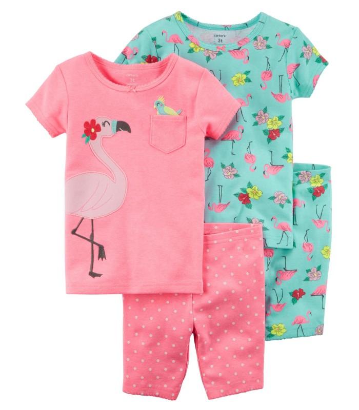 Комплект-піжама з рожевим фламінго