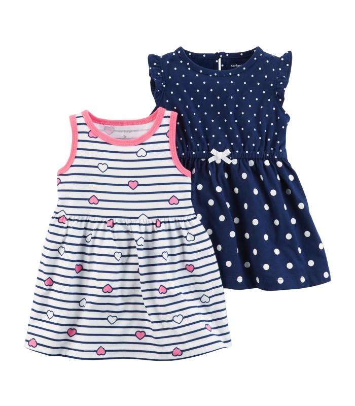 Набір сукня смугаста і темно-синя