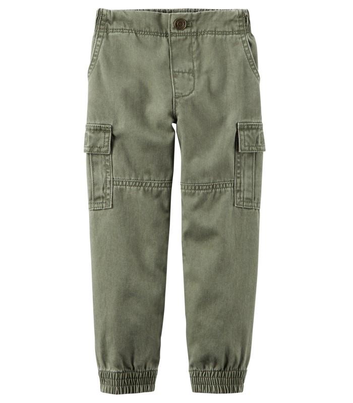 Штани зелені з кишенями