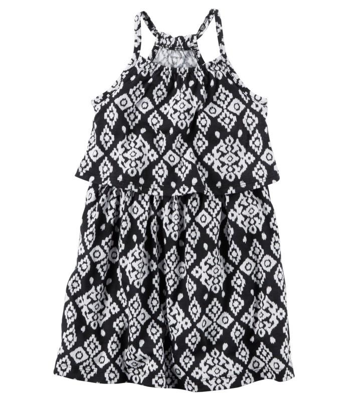 Сукня чорно-біла в орнамент
