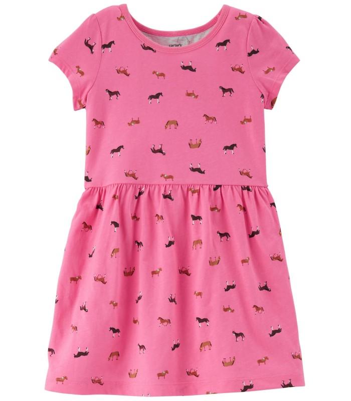 Сукня рожева з конями